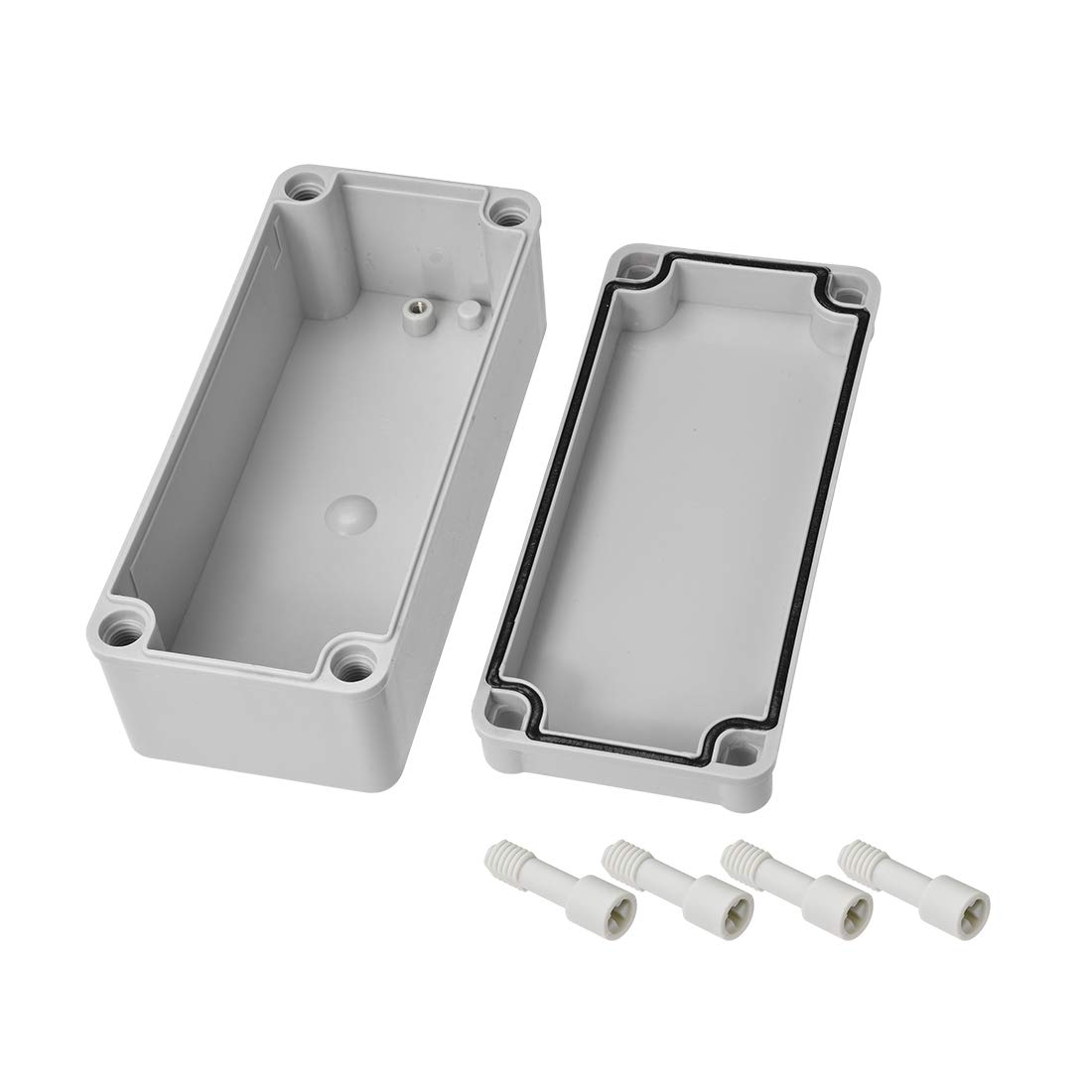 sourcing map 160mm x 80mm x 55mm staubdicht IP65 Junktion Box DIY Deckel eingeschlossen DE de