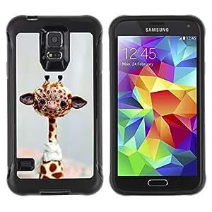 LASTONE PHONE CASE / Suave Silicona Caso Carcasa de Caucho Funda para Samsung Galaxy S5 SM-G900 / Giraffe Stuffed Animal Africa Toy Wild Free Art