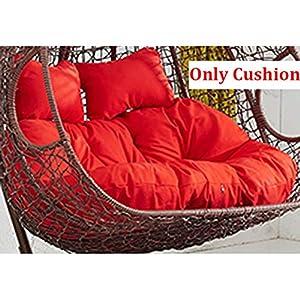 SXFYZCY Suspendre Oeuf Chaise Coussin Osier Osier Oeuf Chaise Coussins Swing siège Pad épais nid Chaise Dos tampons (à l'exclusion de Suspendre la Chaise),B,140x110cm 5