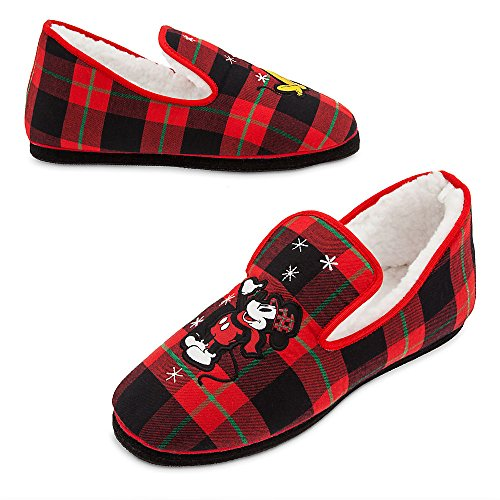 Disney Mickey Mouse Holiday Slippers for Adults Size