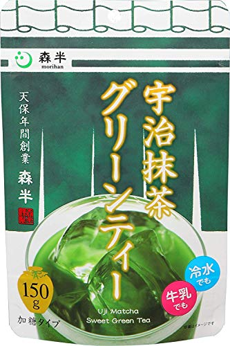 Morihan Uji Matcha Sweet Green Tea Powder 150g (150g Green Tea)