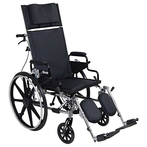 Drive Medical Viper Plus GT Full Reclining Wheelchair, Detachable Desk Arms, 16