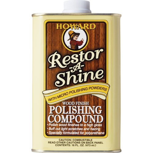 Howard RS0016 Restor-A-Shine Wood Finish Polishing Compound - 16 oz