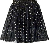 Stella McCartney Kids Baby Girl's Amalie Gold Polka Dot Tulle Overlay Skirt (Toddler/Little Kids/Big Kids) Black 6