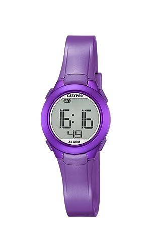 Calypso K5677/2 - Reloj de Pulsera Unisex, Plástico, Color Morado: Amazon.es: Relojes