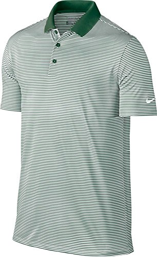 Nike Golf Victory Mini Stripe Polo (Gorge Green/White) (Large)
