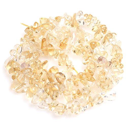 Yellow Citrine Beads for Jewelry Making Natural Gemstone Semi Precious 6x8mm Freeform 15