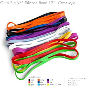 silicone silicon bands joes band inch dp grifiti standard exercise amazon wrapping assorted com