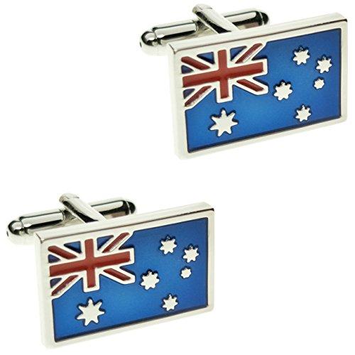 CIFIDET Flag of Australia Cuff Links Fashion Men Shirt Cufflinks with Gift Box - 51q%2BiGarYXL. SS500 - Getting Down Under Jewelry