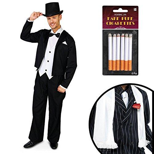 Great Gatsby 1920's Tuxedo Adult Costume Kit M/L