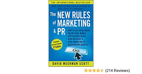 The new rules of marketing and pr how to use social media online the new rules of marketing and pr how to use social media online video mobile applications blogs news releases and viral marketing to reach buyers fandeluxe Images