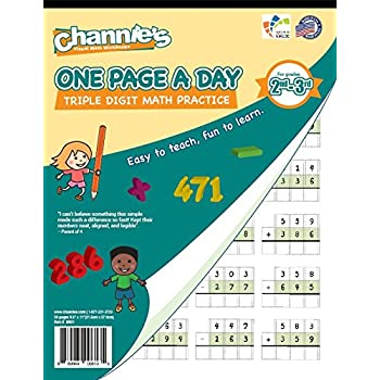 Amazon.com : Channie\'s One Page A Day Double Digit Math Problem ...