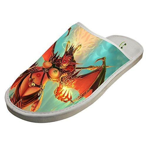Adult Sleeppers Slippers Flip Family Warm Galaxy White19 Sandals Flops Wolf Winter nq6qw0Fz
