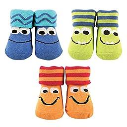 Luvable Friends Bright Socks Gift Set, Monsters