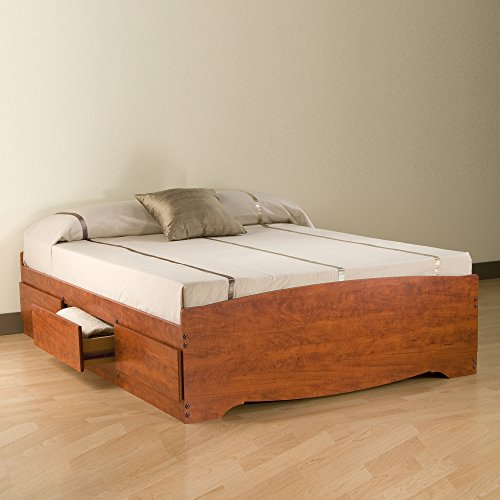 Prepac CBQ-6200-3K Queen Sonoma Platform Storage Bed with 6 Drawers, Cherry
