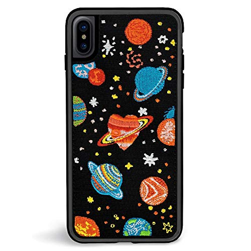 Phone Embroidered Case (Zero Gravity iPhone Xs Max Cosmos Embroidered Phone Case - 360° Protection, Drop Test Approved - Multicolored)