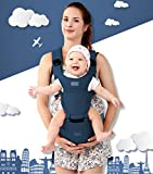 360° Ergonomic Baby & Child Carrier Hip Seat All Carry Positions for Infant Toddler and newborn Soft Structured Carrying Sling bag Cotton Carries children from 3 to 36 months (Blue)