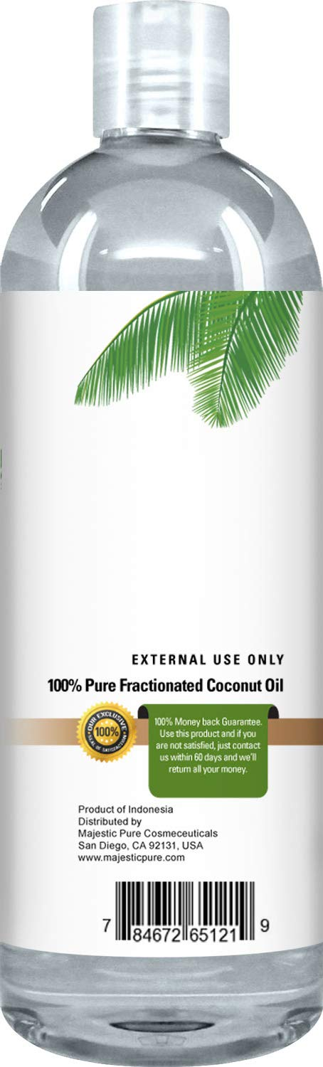 Majestic Pure Fractionated Coconut Oil, For Aromatherapy Relaxing Massage, Carrier Oil for Diluting Essential Oils, Hair & Skin Care Benefits, Moisturizer & Softener - Set of 2. by Majestic Pure (Image #4)