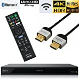Sony UBP-X800 UBP-X80 Streaming 4K Ultra HD 3D Hi-Res Audio Wi-Fi And Bluetooth Built-In Blu-ray Player With A 4K HDMI Cable And Remote Control- Black