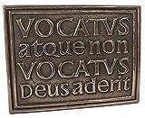 Celtic Plaque Vocatus Atque Non Vocatus Bronze Irish Made