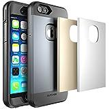 Supcase Hard Case - Funda para Apple iPhone 6S Plus& 6 Plus, Resistente al agua, color negro y gris