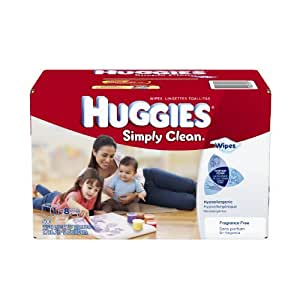 Huggies Simply Clean Fragrance Free Baby Wipes Refill, 600 Count
