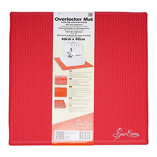 Sew Easy ER906.RED | Overlocker Slip Reduction Mat | 40 x 40cm by Sew Easy