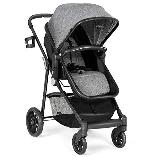 - 2 in 1 Foldable Baby Stroller Kids Travel Newborn Infant Buggy Pushchair Gray