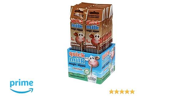 Pajitas mágicas chocolate Quick Milk (20 packs=100 pajitas). Producto para España. (Chocolate): Amazon.es: Alimentación y bebidas
