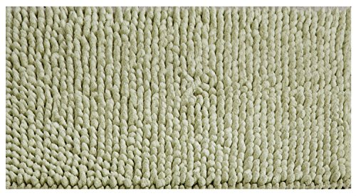 (Better Trends/ Pan Overseas BACR2436SA Chenille Rocks 215 GSF 100% Cotton Hand-Woven Luxury Bath Rug Chenille Rocks 100% Cotton Bath Rug, Sage, 24