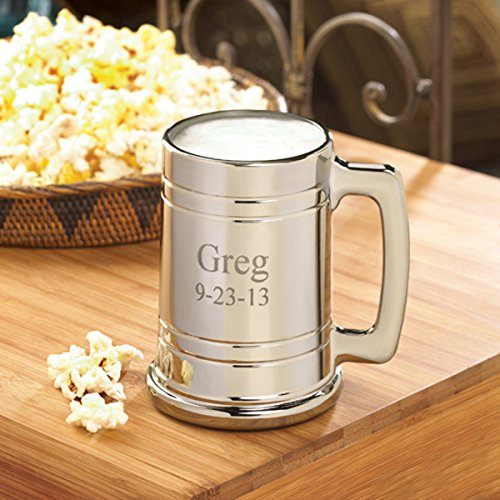 Personalized Gunmetal Beer Mug (Metallic Beer Mug compare prices)