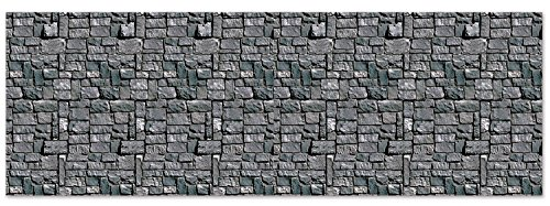 Beistle Stone Wall Backdrop Party Accessory | 4-Feet by 30-Feet | -