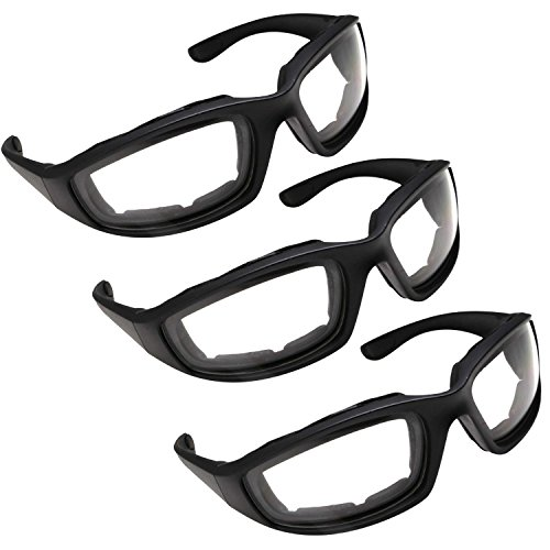 3 Pair Motorcycle Riding Glasses Clear