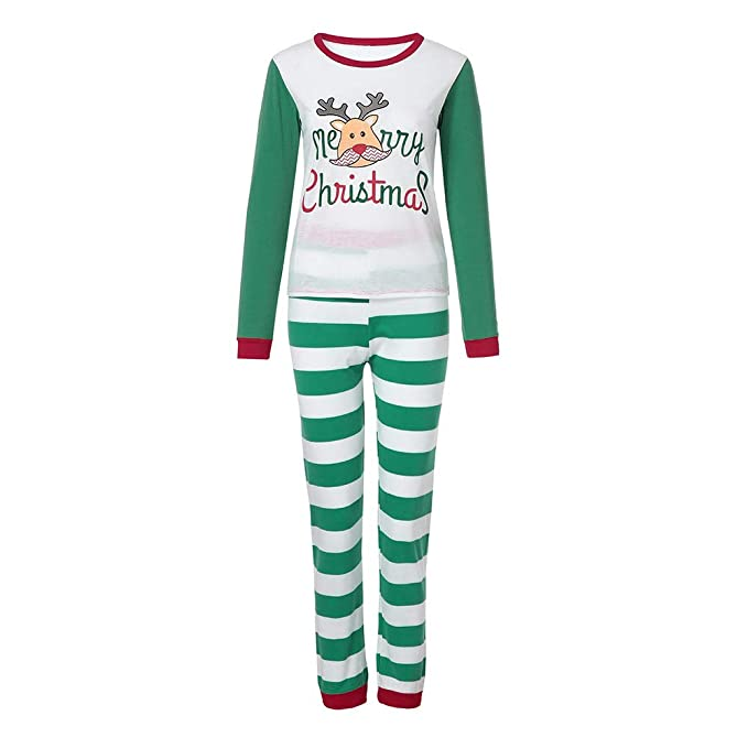 cucuham women reindeer tops blouse pants family pajamas sleepwear christmas outfits setgreen us