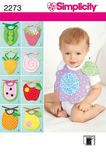 Simplicity Sewing Pattern 2273 Baby Bibs, One Size