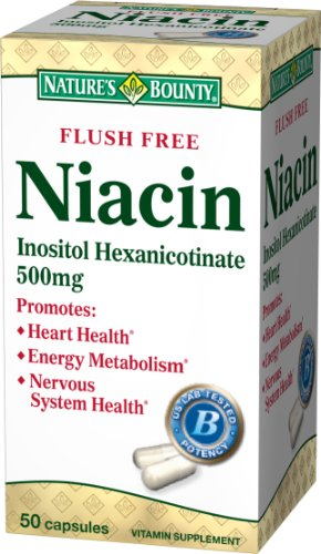 (Nature's Bounty Flush Free Niacin, 500mg, 50 Capsules (Pack of 2))