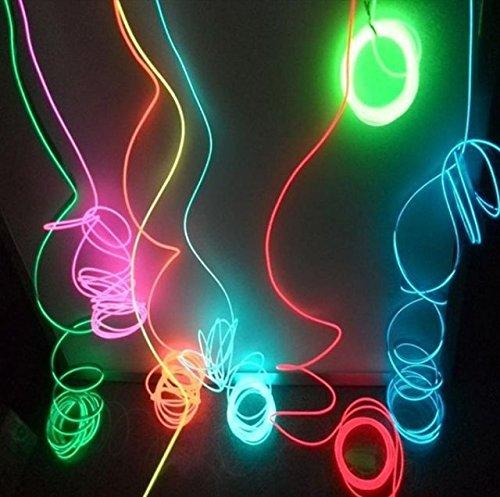 hallenwerk AMBIENTEBELEUCHTUNG Inverter//Adapter EL-Stripe Lichtleisten Strip Band Licht Ambiente Beleuchtung Innenraumbeleuchtung 12V f/ür PKW Kfz Auto Wohnmobil EL 2 Meter 1x GELB