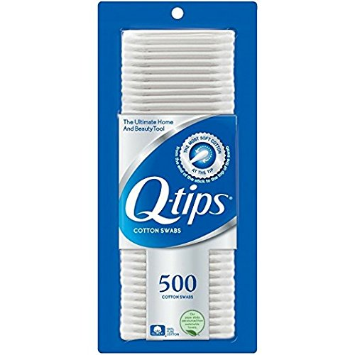 Q-tips Cotton Swabs 500 ea (Pack of 3)