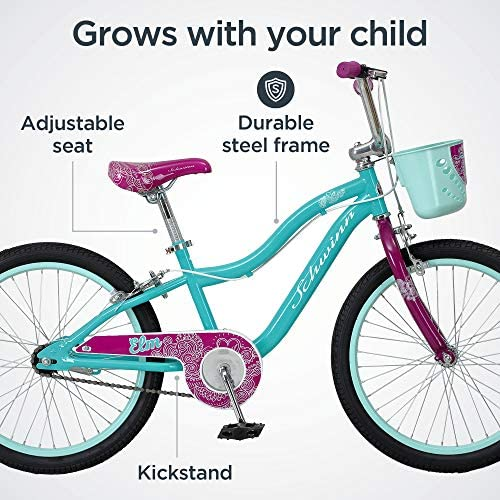 51q%2Bmx4wnIL. AC  - Schwinn Elm Girls Bike for Toddlers and Kids
