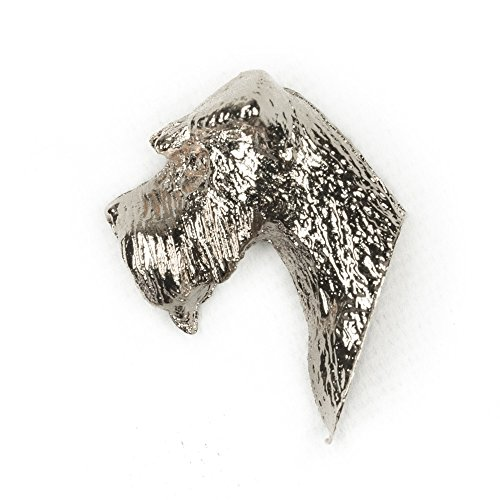 SCHNAUZER MINIATURE Made in U.K Artistic Style Dog Clutch Lapel Pin ()