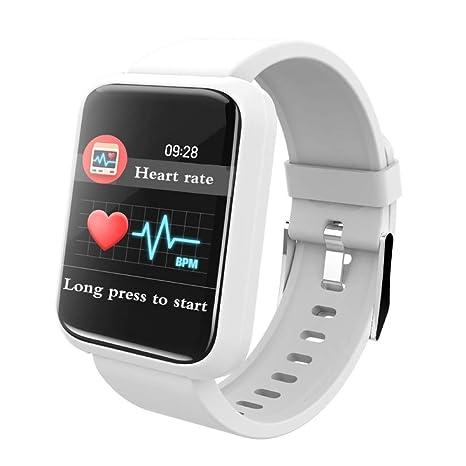 ZLOPV Reloj Inteligente con pronóstico del Tiempo Monitor de ...
