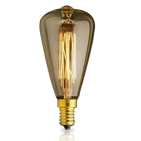 Vintage E14 ST48 40W luz amarilla del Bulbo edison pequeño tapón de rosca para lámparas de techo retro bombillas decorativas