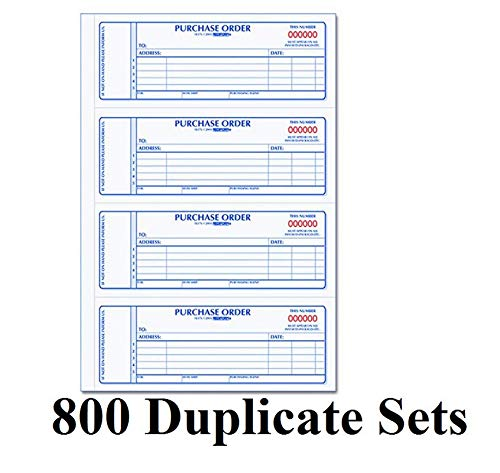 (Rediform Carbonless Purchase Order Book, Numbered, 2.75 x 7 Inches, 800 Duplicate Sets (1L176))