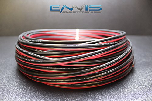 12 GAUGE 25 FT RED BLACK SPEAKER ZIP WIRE AWG CABLE POWER