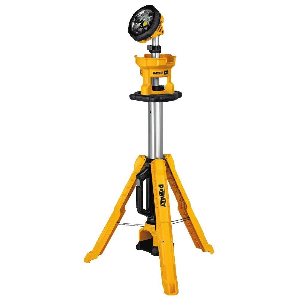 DEWALT DCL079BR 20V MAX Portable Cordless Tripod Light (Bare Tool, No Battery or Charger) (Renewed)