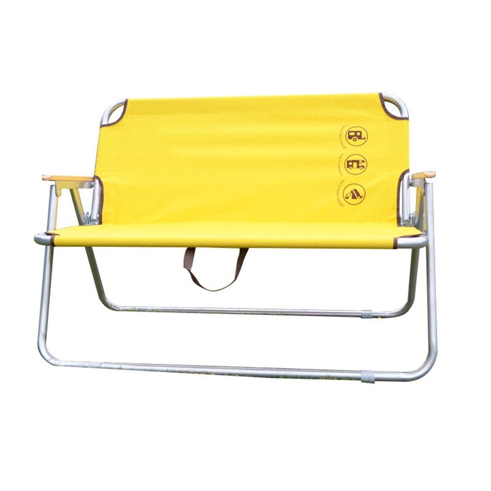 無料配達 ベンチ ベンチ 屋外折り畳み式二重椅子ポータブルレジャーチェアイエローL100cm** W41cm* H75cm H75cm (A++) B07DB6KL78, シュードリーム:8b193414 --- cliente.opweb0005.servidorwebfacil.com