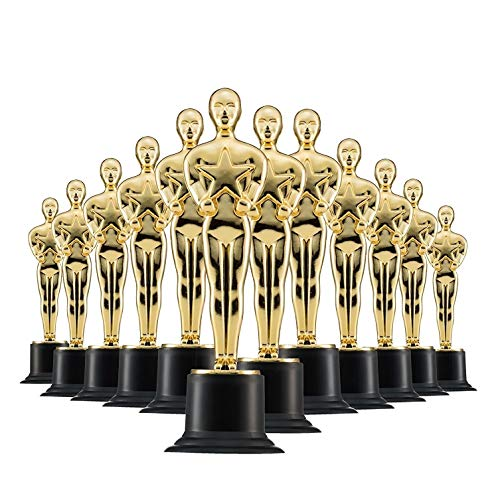 Prextex Gold 6'' Award Trophies (12 Pack) for Ceremonies or Parties