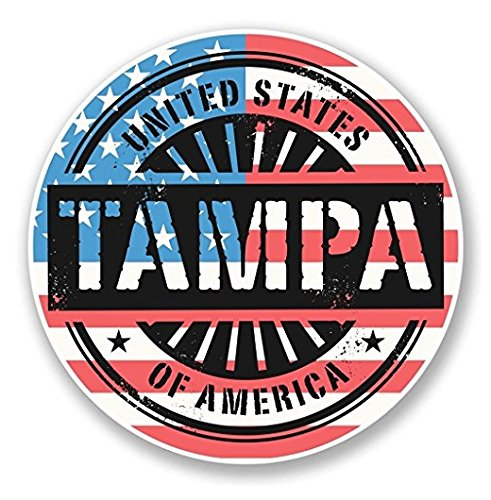 SMACK THAT STICKERS Tampa Bay Florida USA Sticker Car Van Campervan Glass - Sticker Graphic - Sticks to Any Smooth Surface - Cars, Walls, Cellphones, Laptops, Windows
