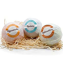 XL Bath Bombs Gift Set - 3.6oz Essential Oil Infused Bombs, Spa and Bath Tub Friendly Fizzies (6 Pack)