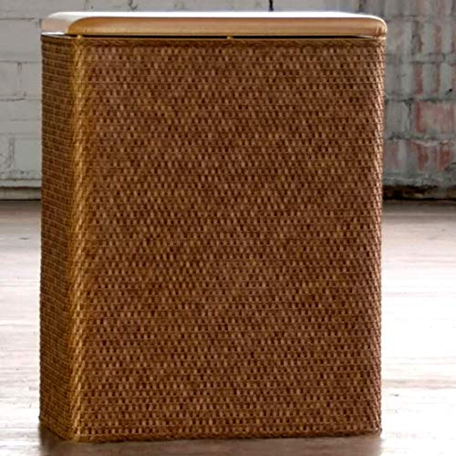 - Hampers for Laundry Clearance, Contemporary Wicker and Solid Wood Cappucino Finish Rectagular Laundry Hamper, Modern Bathroom Country Cabinet Laundry Hamper & E-Book